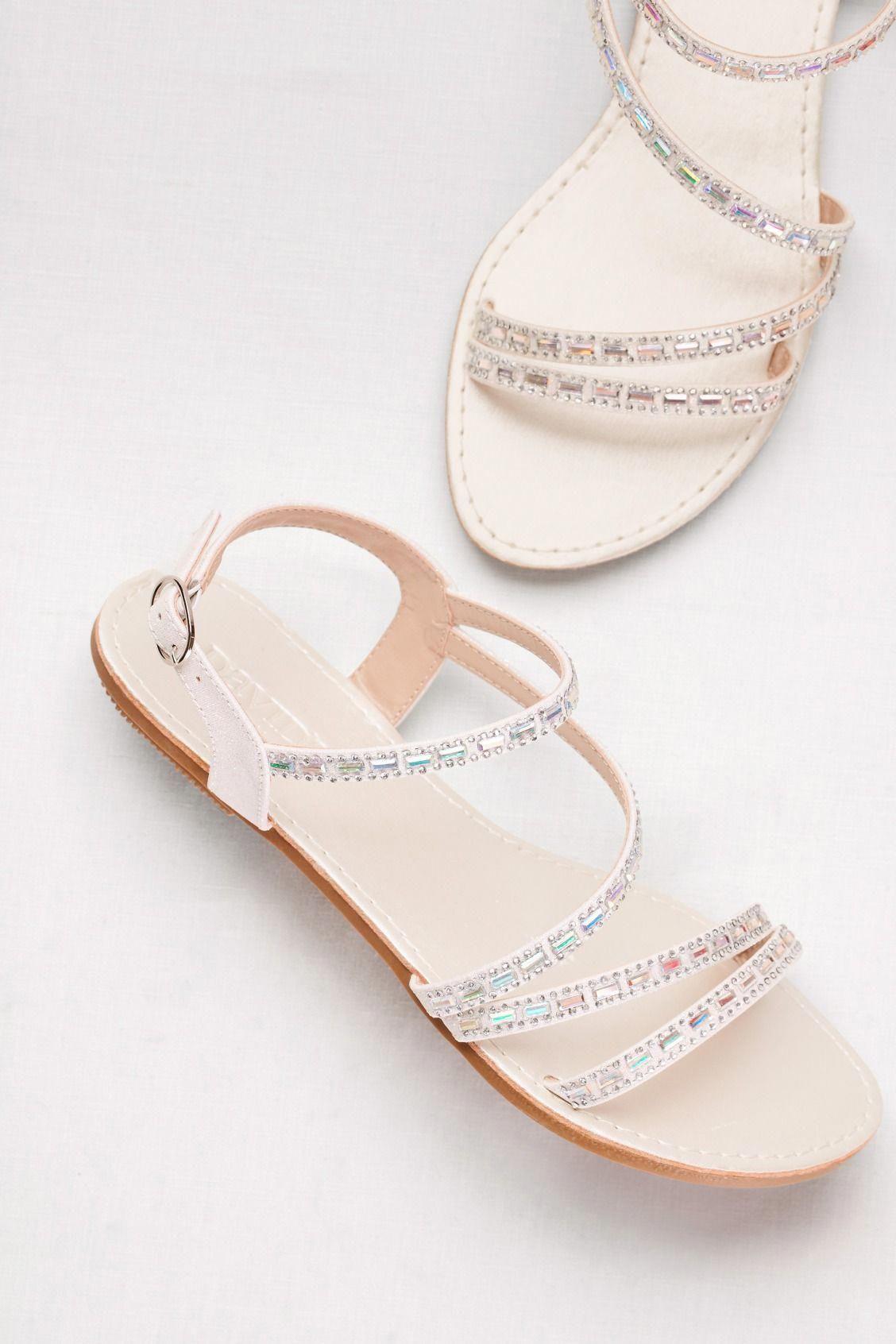 09dbc81a47eada A pretty prom flat sandal for a stylish night of dancing ...