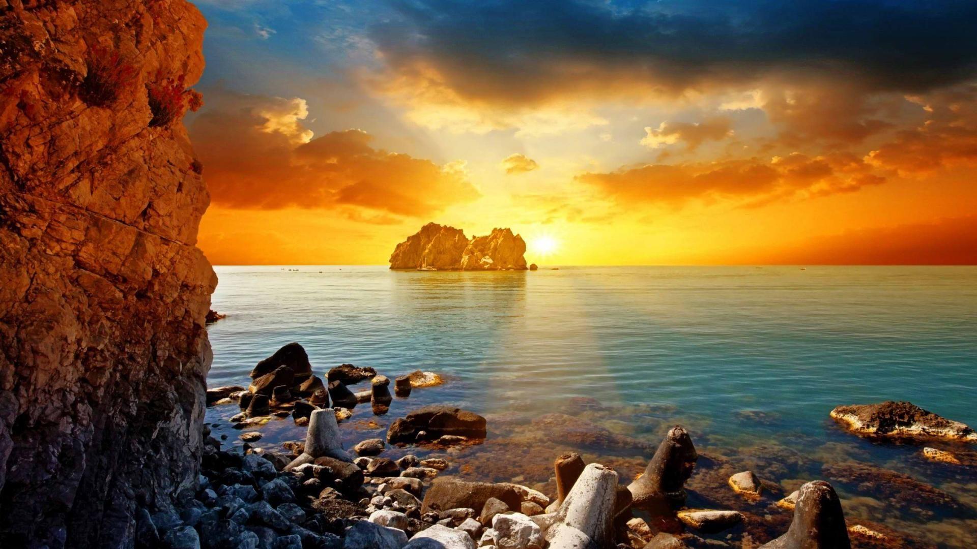 Widescreen Beach Sunset Hd Wallpapers Top Destinations Pinterest