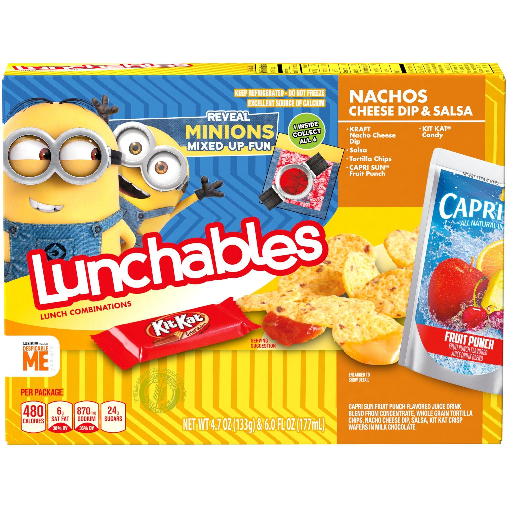 Oscar Mayer Lunchables Nachos With Cheese Dip And Salsa 4 7oz Lunchables Nacho Cheese Cheese Dip