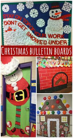 find fun christmas bulletin board ideas for your classroom i have reindeers santa elves and more fun ideas