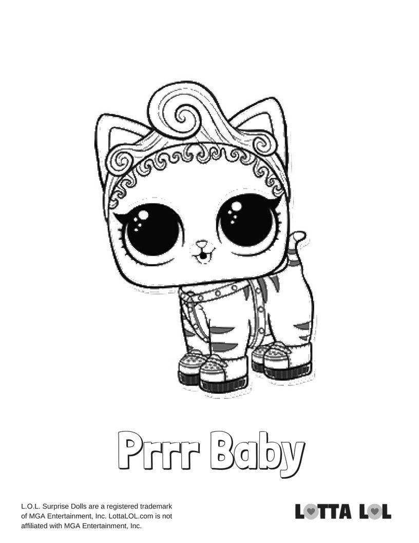 Purrr Baby Coloring Page Lotta Lol Baby Coloring Pages Kids Printable Coloring Pages Kitty Coloring