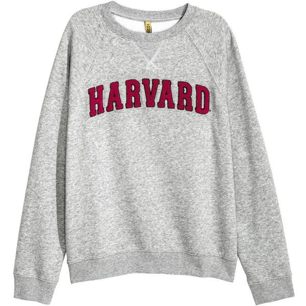 H&M Sweatshirt with Appliqué $14.99 ($15) ❤ liked on