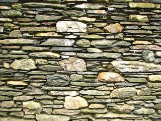 Mur En Pierres Sèches Plates