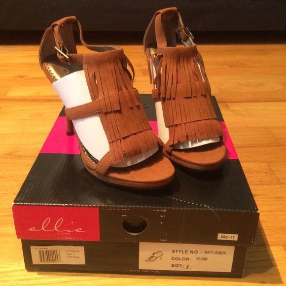 ELLIE brown Pocahontas heels Boutique   Ellie shoes, Heels ...