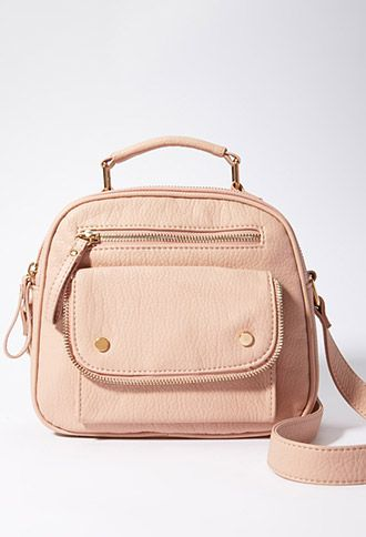 Zippered Faux Leather Crossbody  9d57204cc77d8