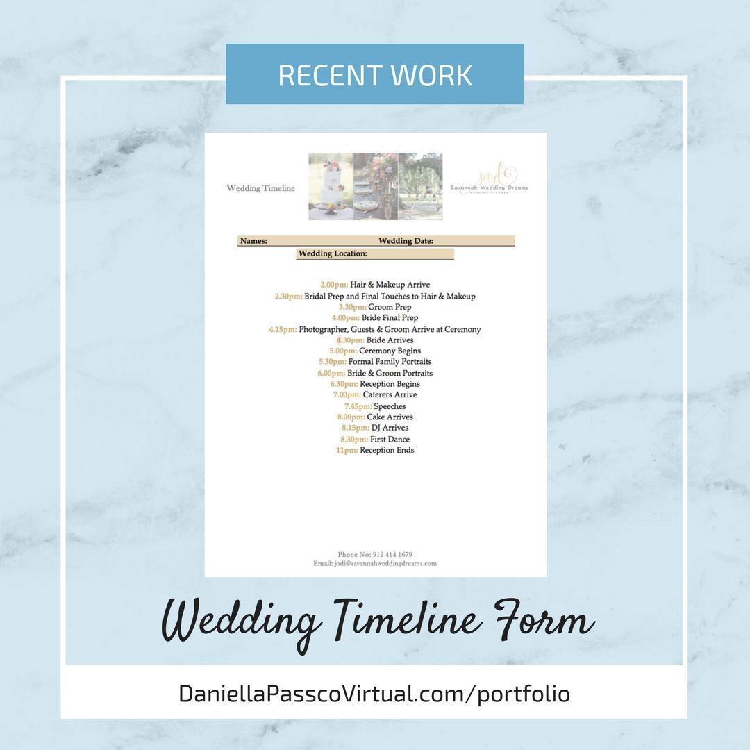 wedding timeline form wedding timeline example wedding timeline
