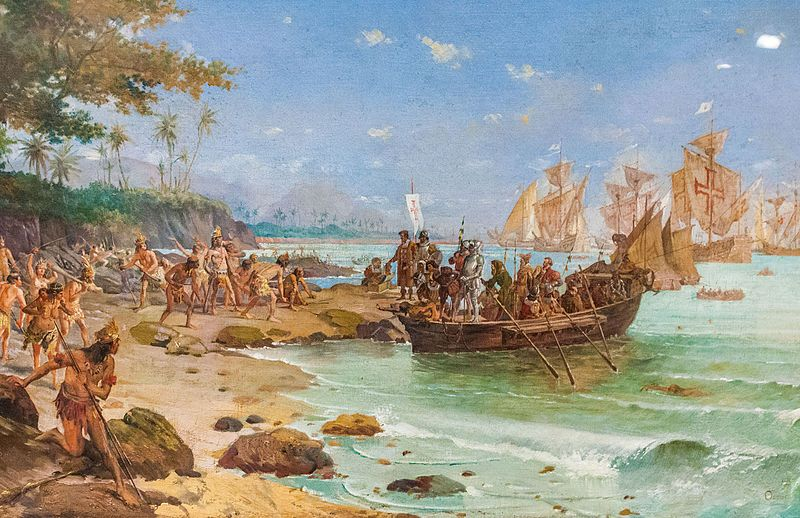 Representation Of The Landing Of Pedro Alvares Cabral In Porto