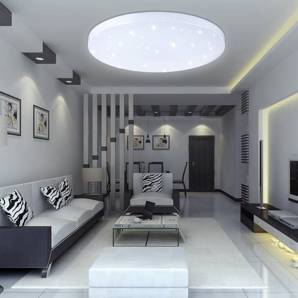 Vingo 16w Plafonnier De Salon Led Luminaire Int Rieur Blanc Plafond