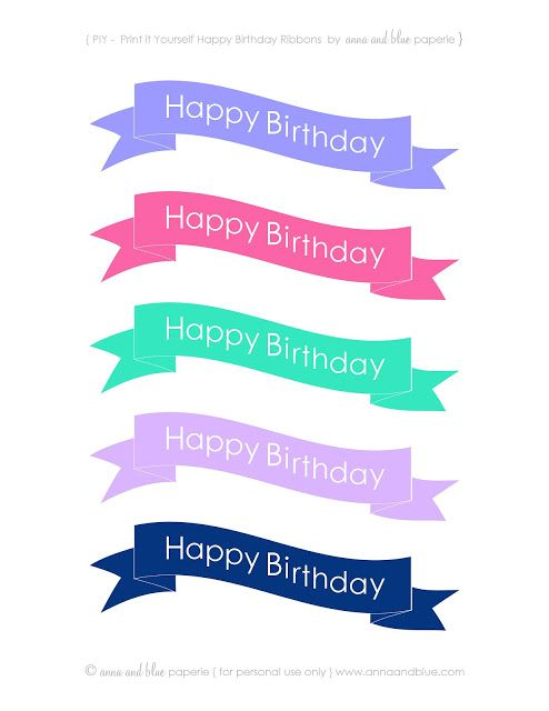 Happy Birthday Cake Banners