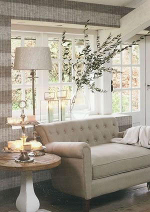Riviera Maison Galerie Wallpaper #lounge #rustic #home #homedecor Glamorous Wallpaper Living Room Ideas For Decorating Inspiration