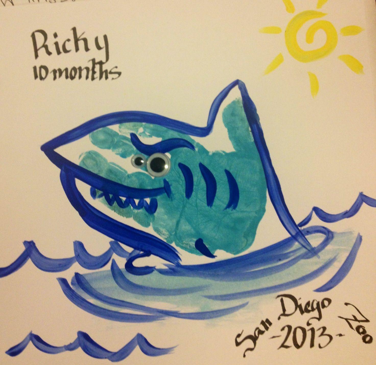Uncategorized Shark Images To Print babys hand print shark handprints pinterest shark
