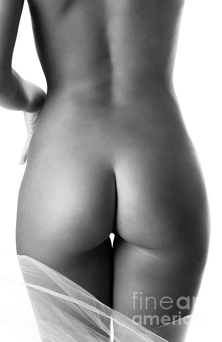 and bum Black photography white nude