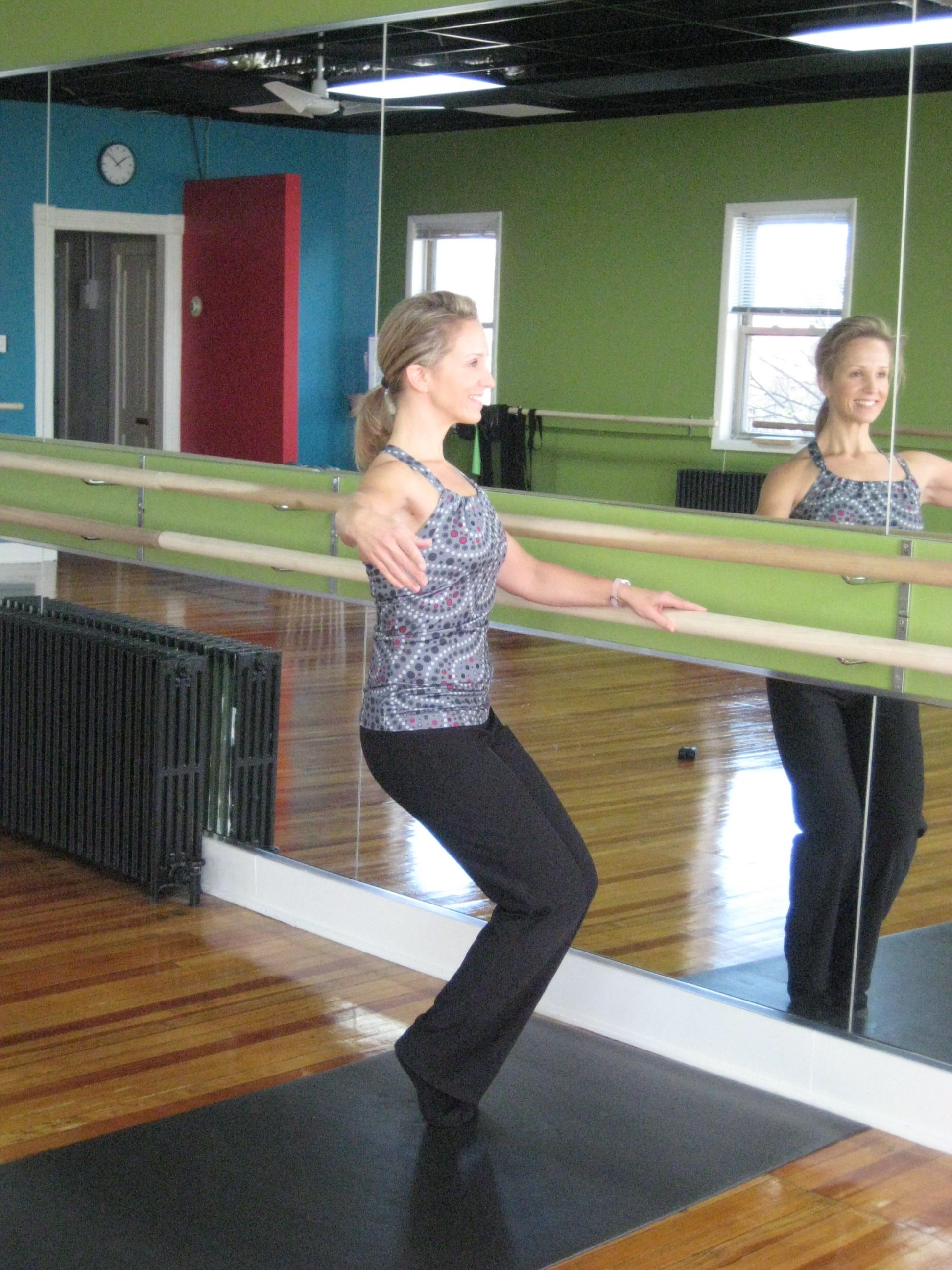 Customer picture showing our ballet bars ballet bar