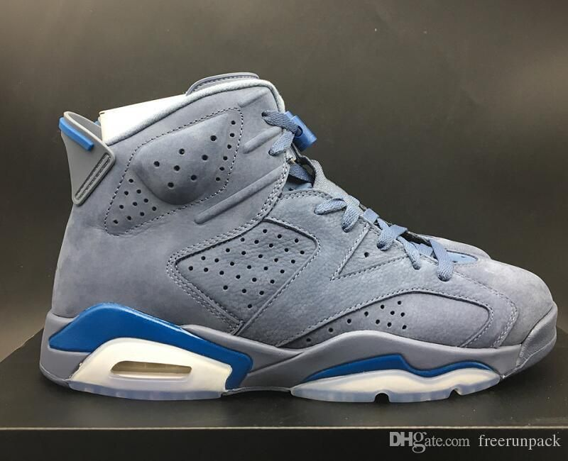 san francisco c9bb3 67d73 2019 Latest 6 Diffused Blue Court Blue Custom Sneakers ...
