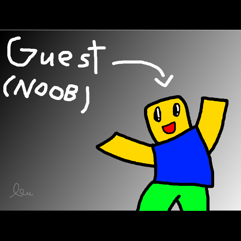 see I am not a guest the stupid peoples who call me noob
