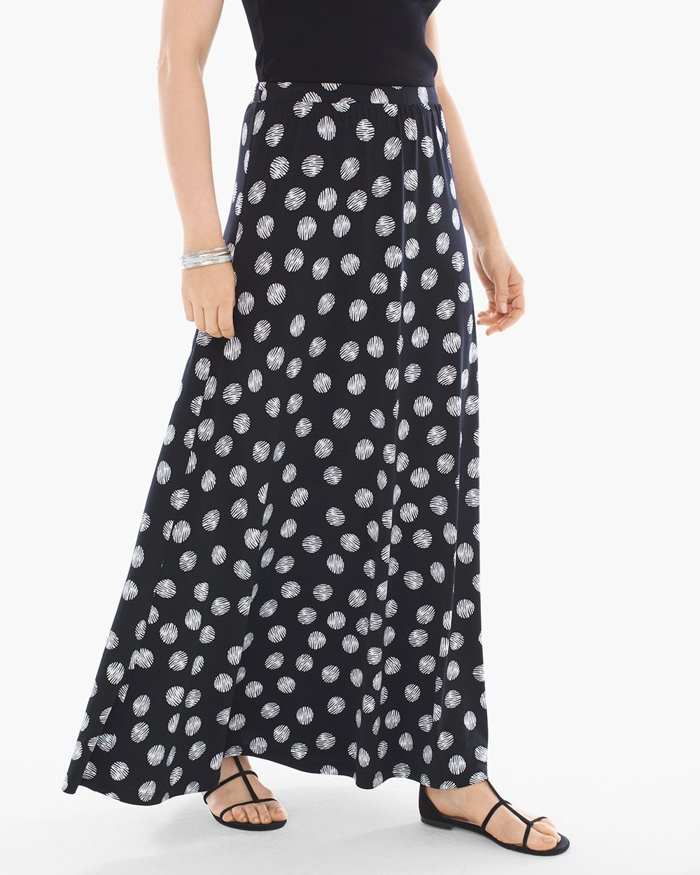 b838c474f7c Chico s Women s Polka Dot Maxi Skirt