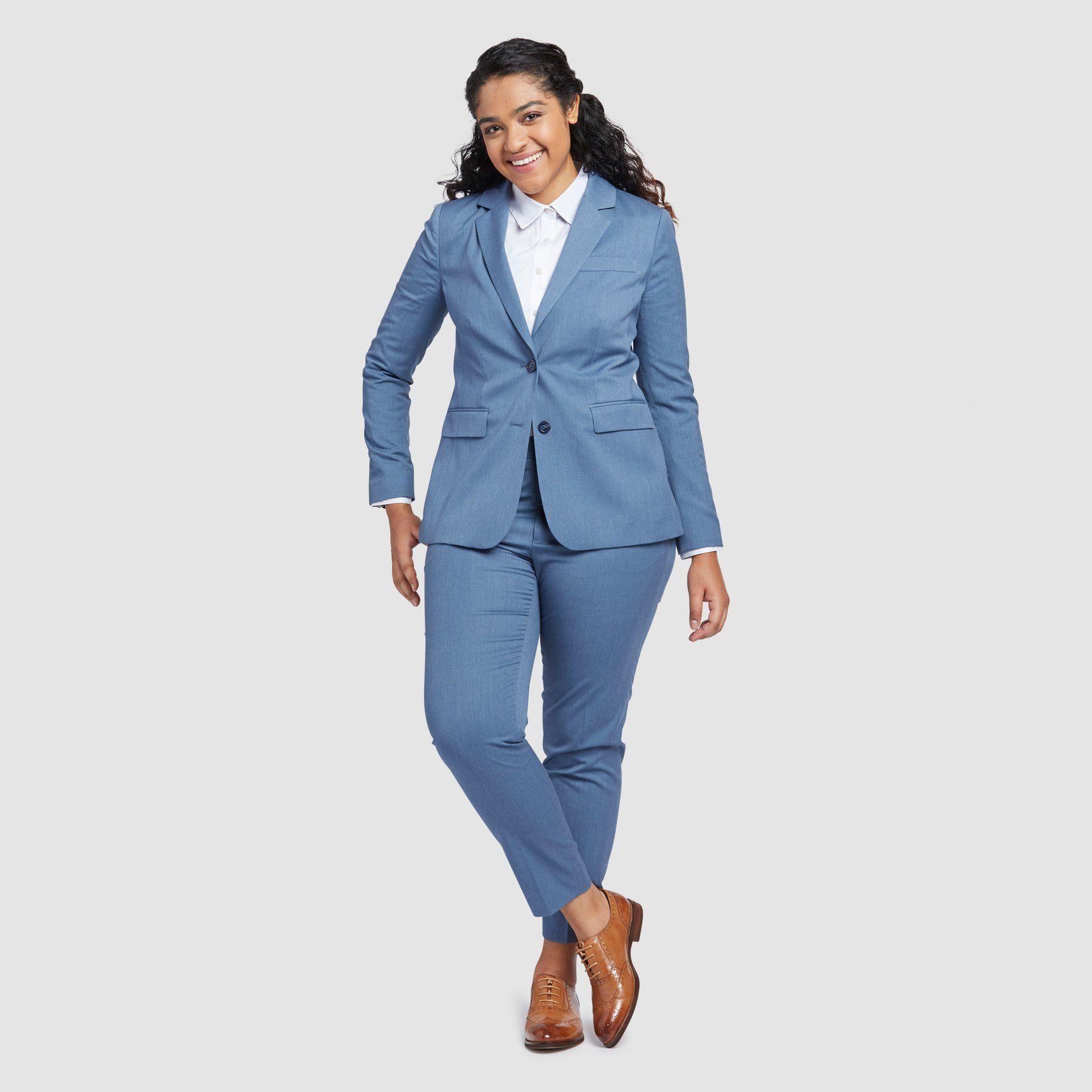 Light Blue Pant Suit Womens
