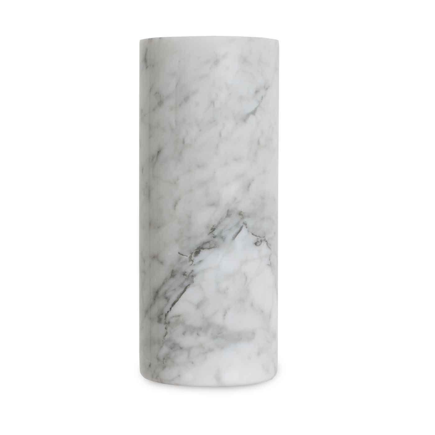 Cylindrical Vase White Carrara Marble
