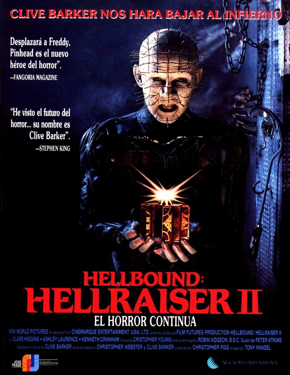 936full-hellbound_-hellraiser-ii-poster.jpg (936×1208)   Movie posters, Hellraiser, Horror movie posters