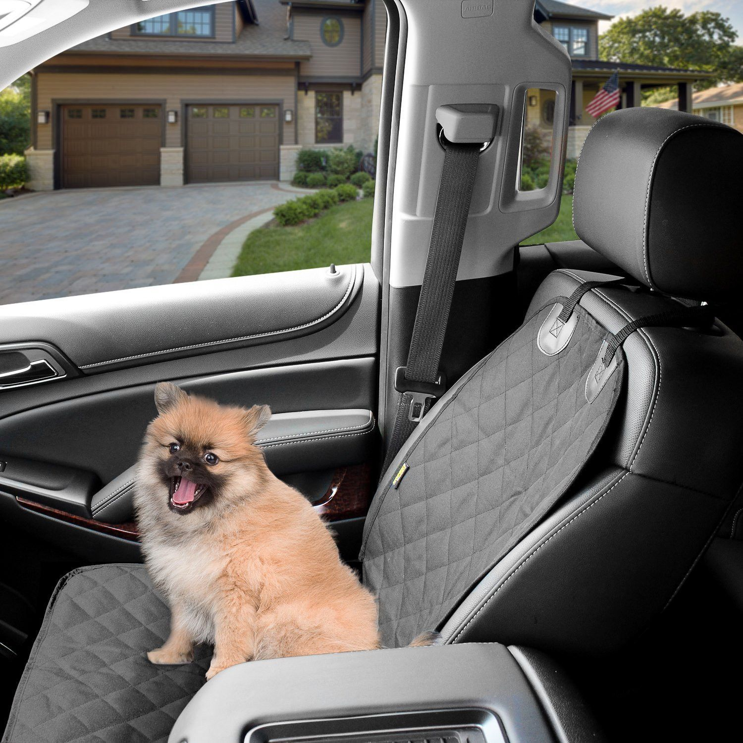 Excellent Dog Cover Car Front Seat For Pet Waterproof Black Onthecornerstone Fun Painted Chair Ideas Images Onthecornerstoneorg
