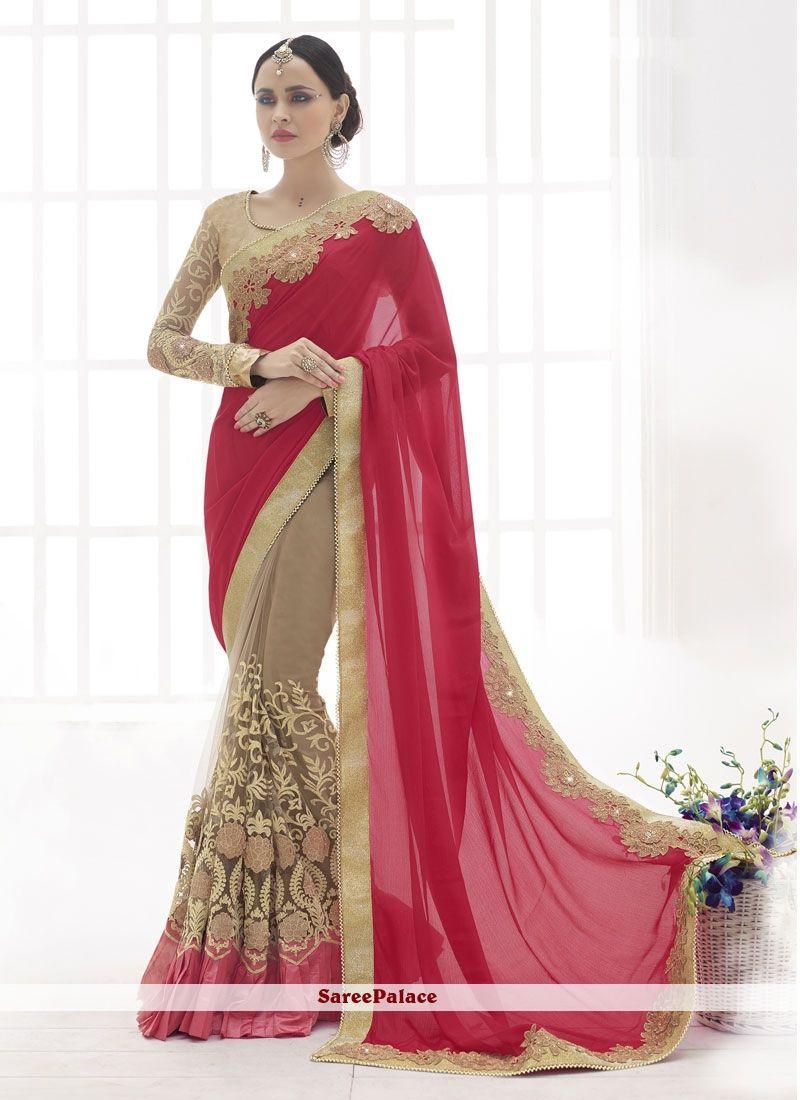 Wonderous zari work designer saree saree i love it pinterest