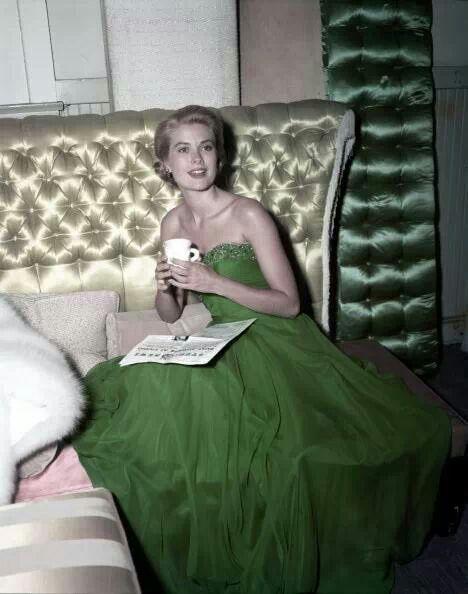 Grace Kelly on St. PATRICK'S DAY 1954.