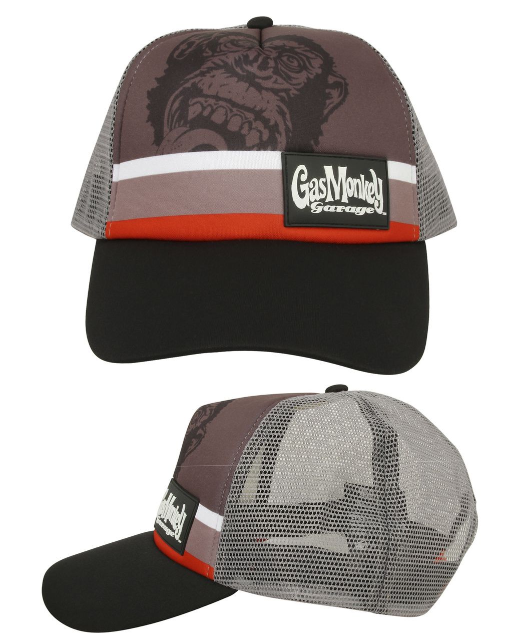 bfc05701c5c GMG Trucker Gas Monkey Garage Cap (Multi-Colour) GMG Trucker cap with Gas  Monkey Garage patch on a grey front and contrasting panels that work nicely  with ...