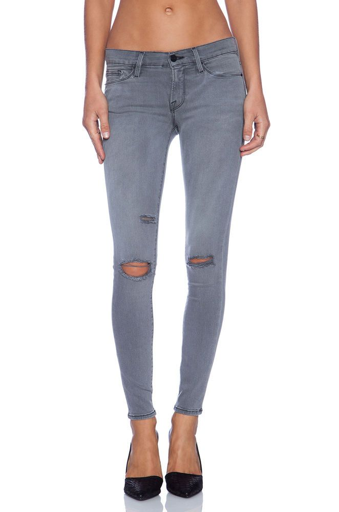 Outlet Affordable Frame Woman Frayed Faded Boyfriend Jeans Light ...