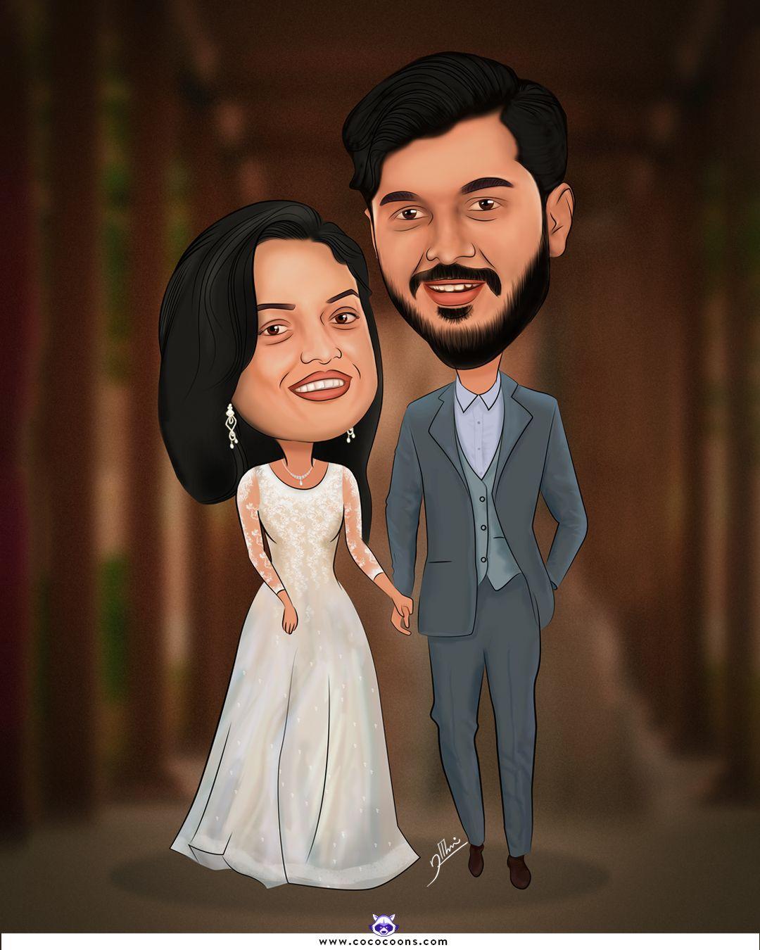 christian wedding caricature, Custom Caricatures