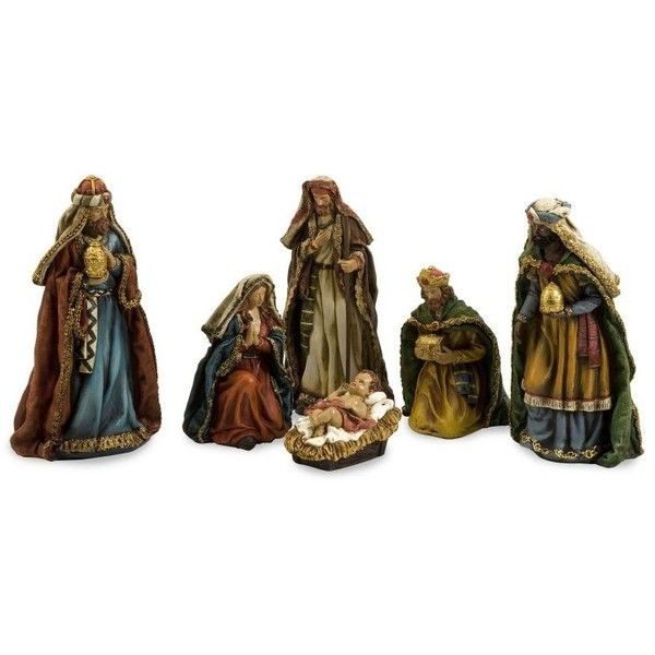 Holy Night Nativity Set of 6 ($15) ❤ liked on Polyvore