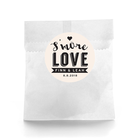 Smore love Wedding Favor Stickers - Personalized Wedding ...