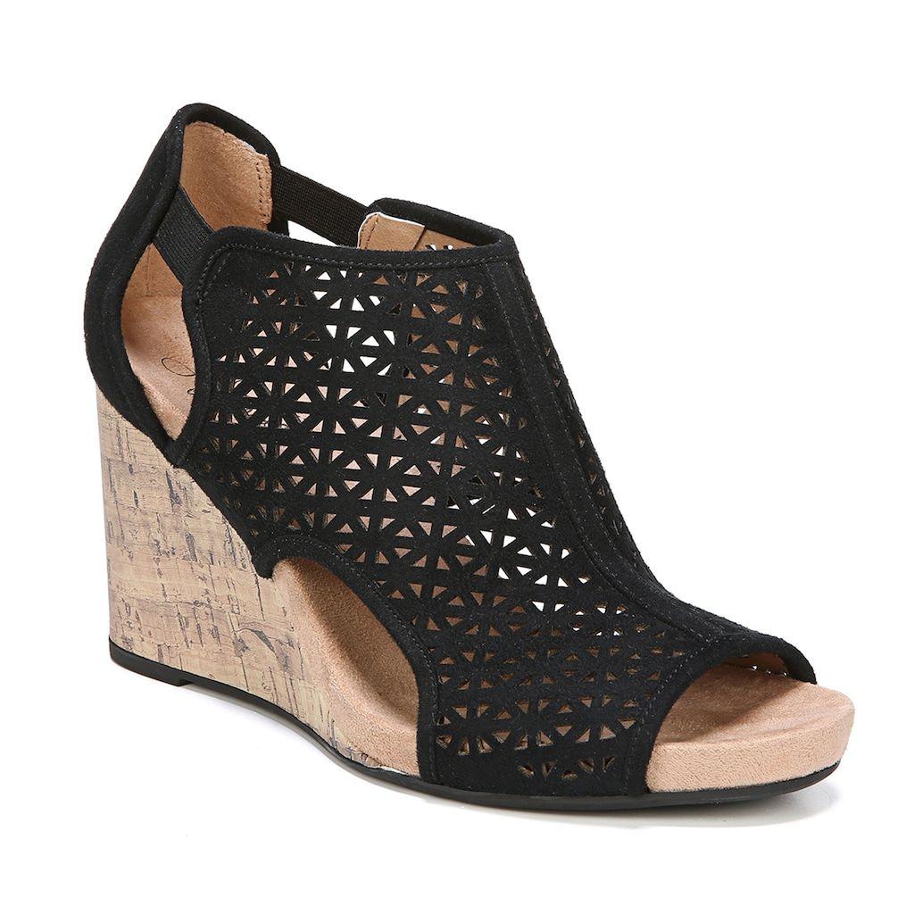 wedges, Black wedge sandals