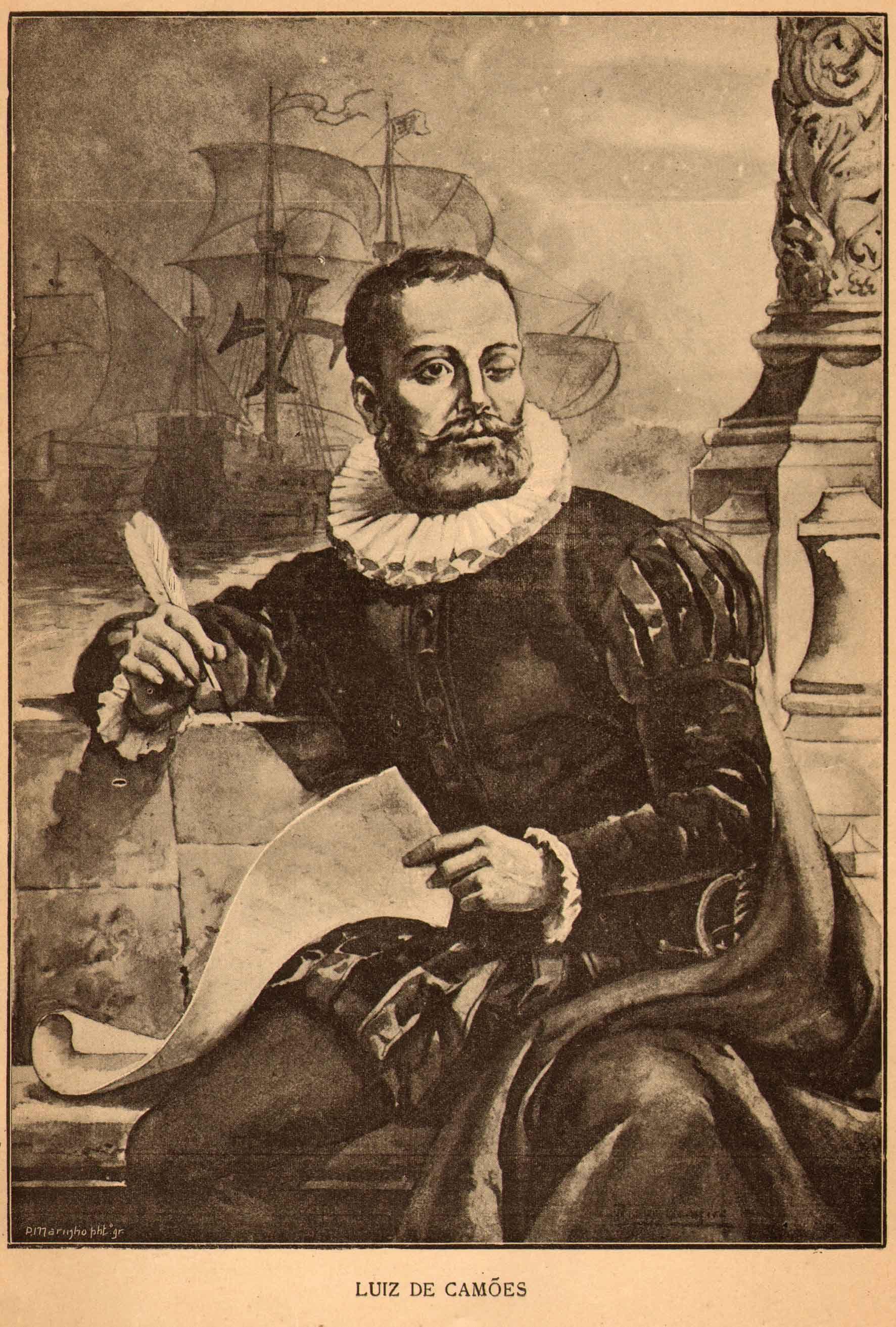 Luis Vaz De Camoes Portuguese Poet And Soldier 1524 1580 Com