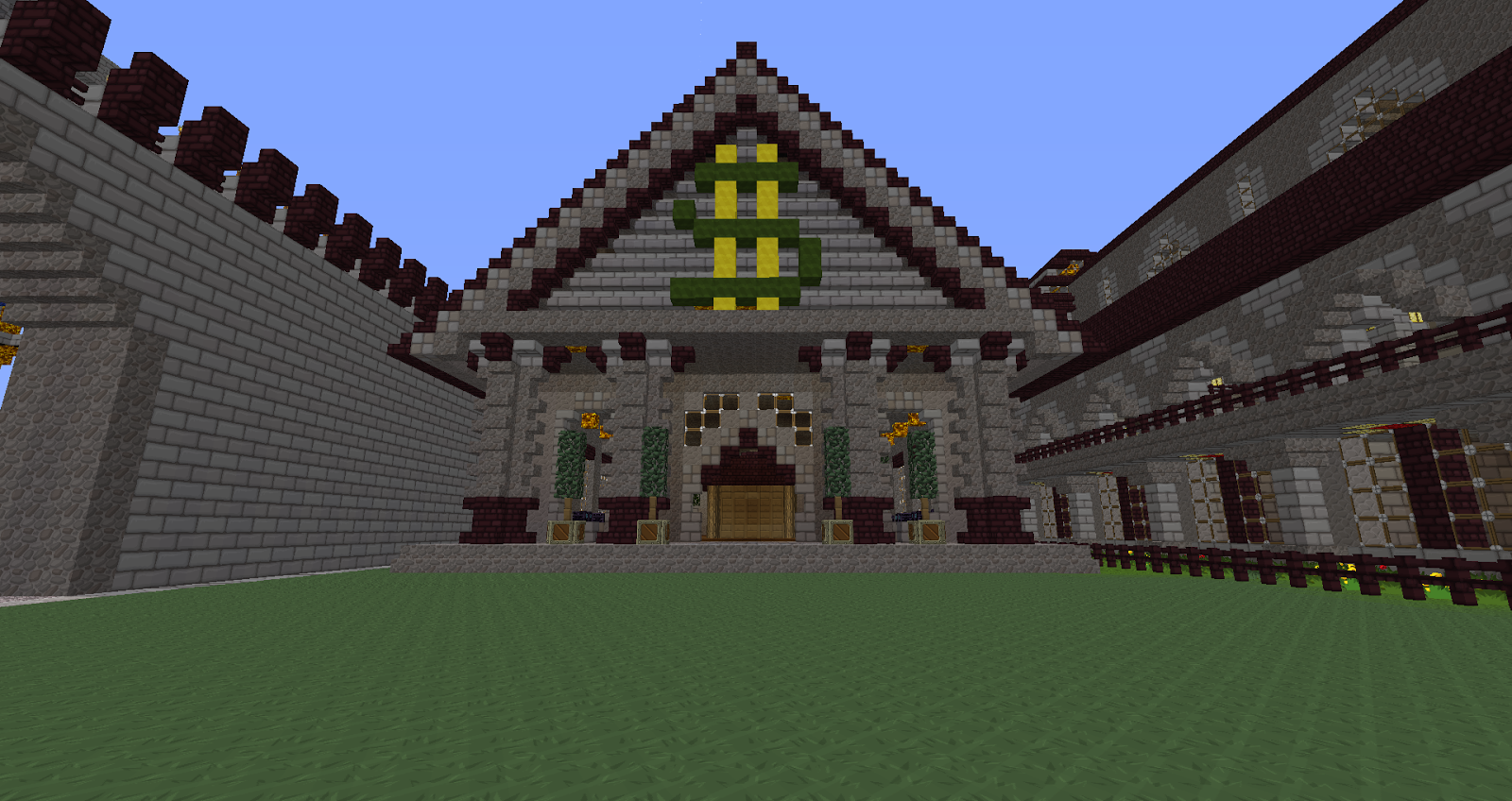 Attractive Minecraft House Ideas Xbox 360 | This Is The New Bank For Our Server  ChaosCraft (