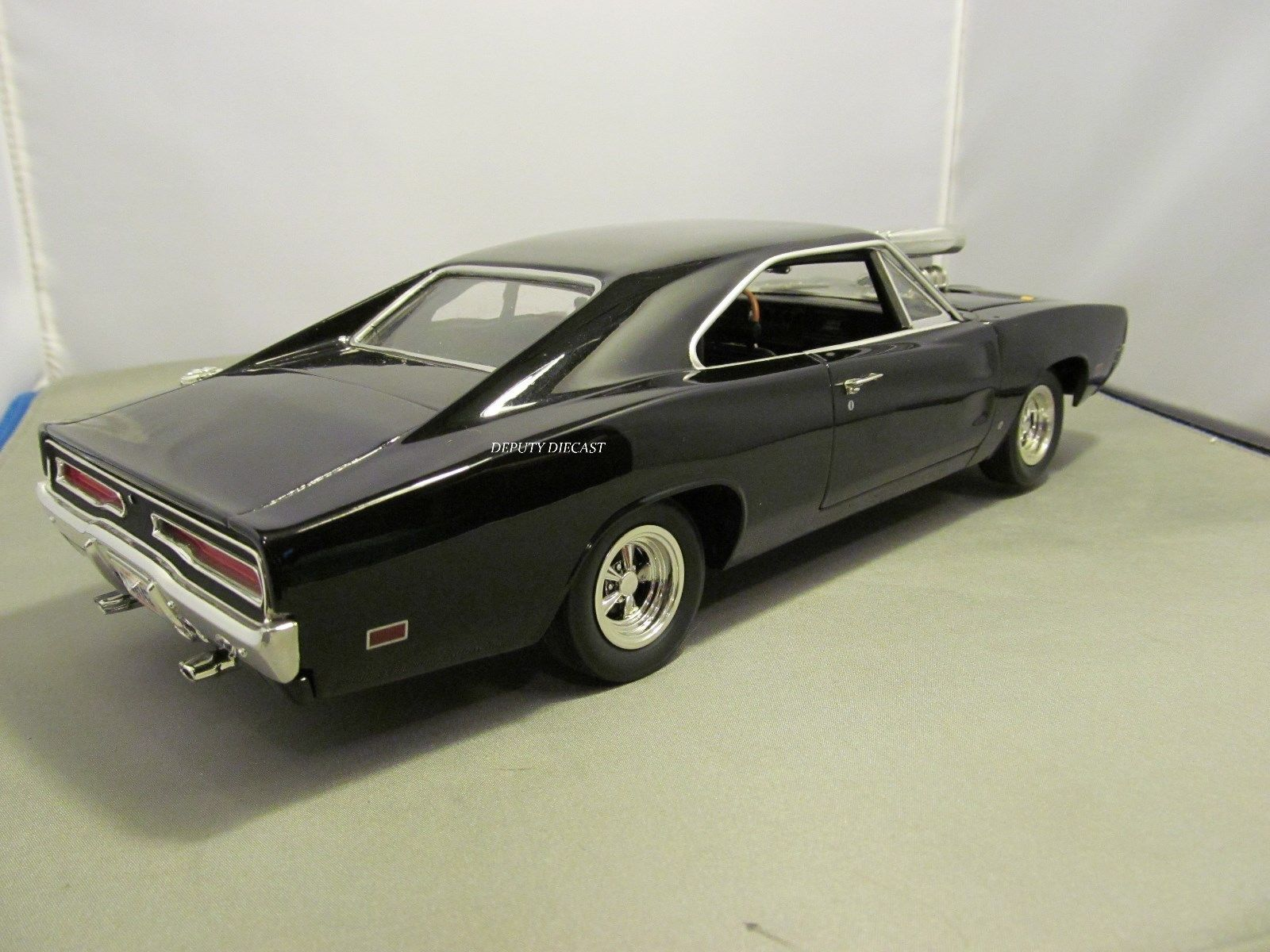 ERTL 1/18 FAST AND FURIOUS BLACK DODGE CHARGER *READ* NO BOX   eBay