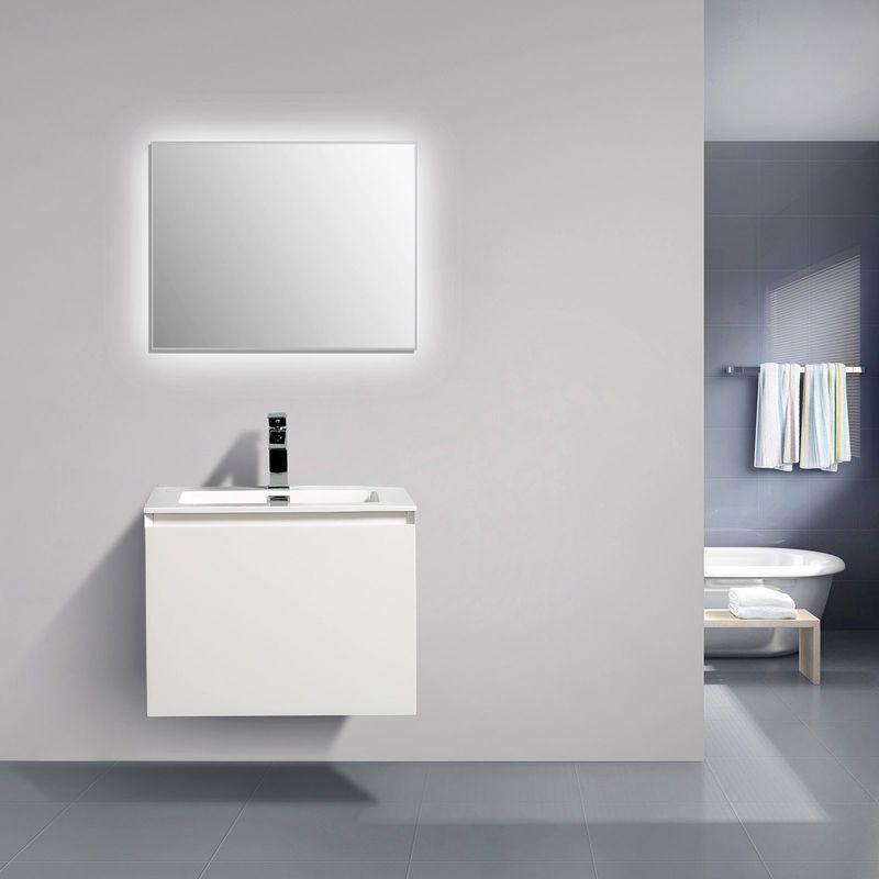 Meuble De Salle De Bain Luna 600 Blanc Mat Miroir En Option Avec Armoire De Toilette Bs60 En 2020 Meuble De Salle De Bain Meuble Salle De Bain Armoire De Toilette