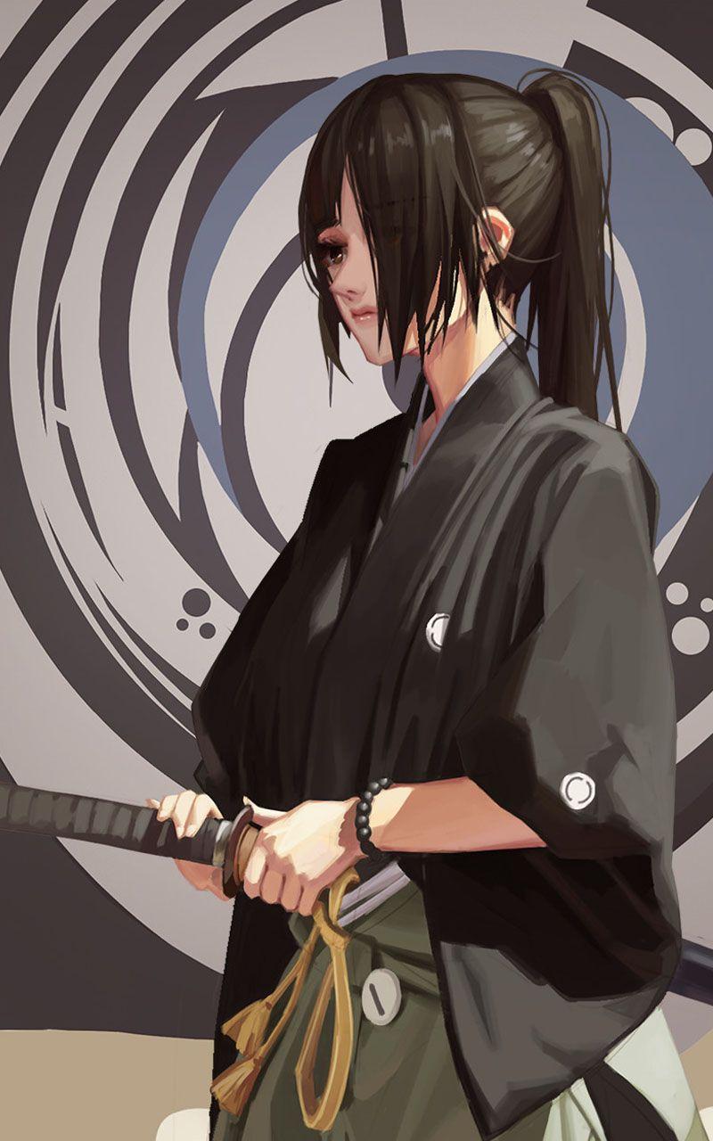 Japannes Female Warriors Samurai Art Samurai Anime Samurai Artwork