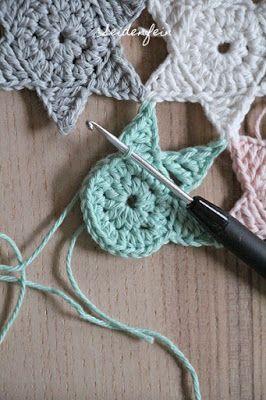 seidenfeins Blog vom schönen Landleben: 8 ✴ Sternchenregen + Anleitung * crochet stars + Tutorial & PREVIEW #afghans