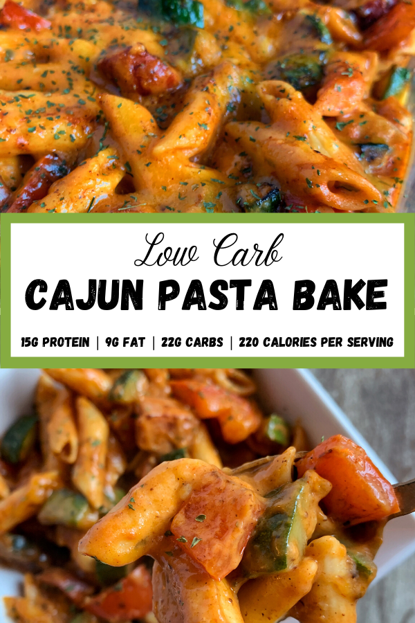 Low Carb Cajun Pasta Bake in 2020 Creamy cajun pasta