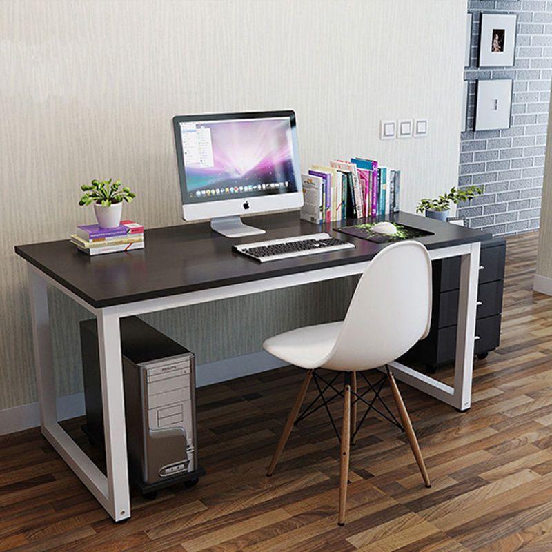 Details about Modern Walnut Wooden & Metal Computer PC Home ...