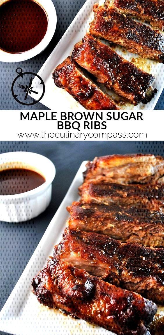 Maple Brown Sugar BBQ Ribs - Maple Brown Sugar BBQ Ribs eculinaryco… -