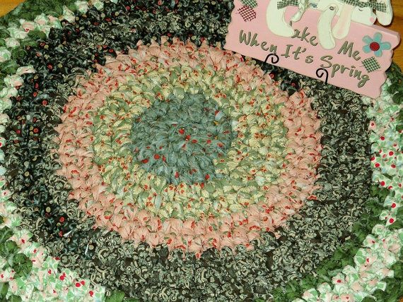 Scrappy Fabric Crocheted Rug Just Like Grandmas by pdqdesigns, $101.87