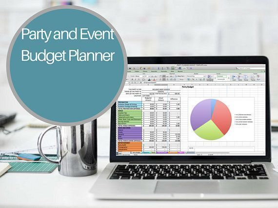Party Budget Planner Excel Party Planner Baby Shower Budget Birthday - Wedding Budget Excel Spreadsheet