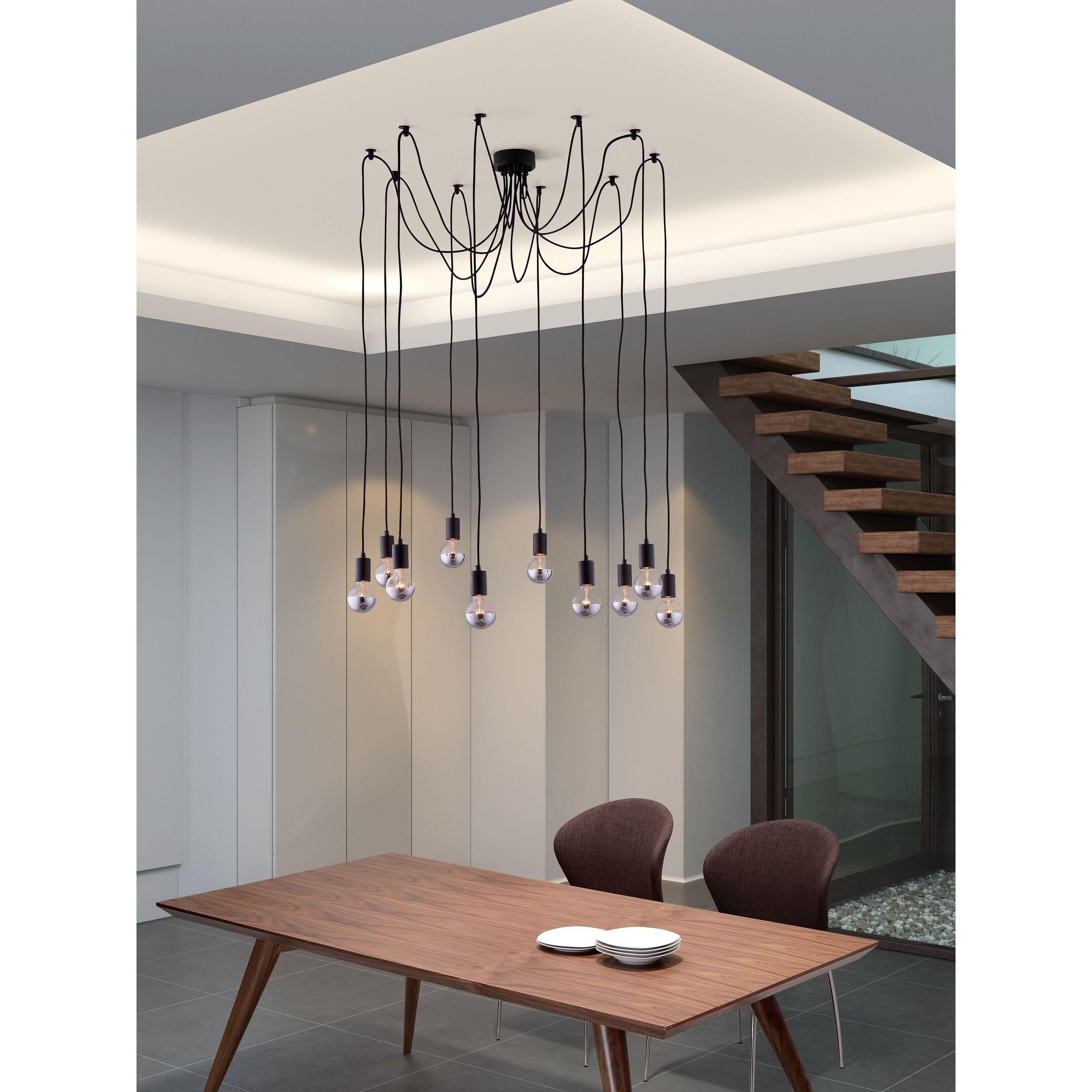 Fog 10 light black modern ceiling lamp overstock shopping lowest price online on all zuo fog ceiling lamp in black 50151 arubaitofo Images