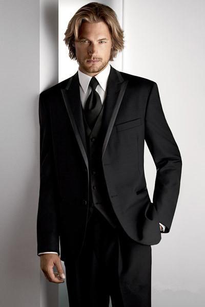 Custom Made One On Groom Tuxedos Wedding Suit For Men Groomsman Boys Jacket Pants Tie Vest Bridegroom Mens Tux Pinterest Groo
