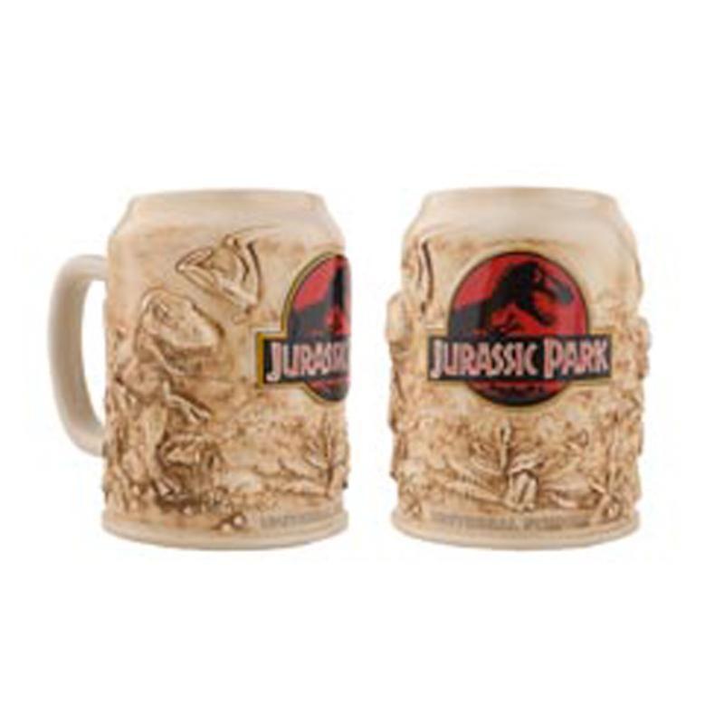 universal studios jurassic park attraction ceramic coffee mug new