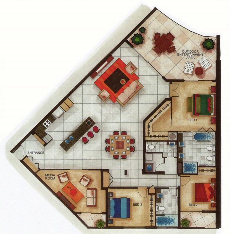 Sample sub penthouse floor plan planos pinterest for House plan drawing samples