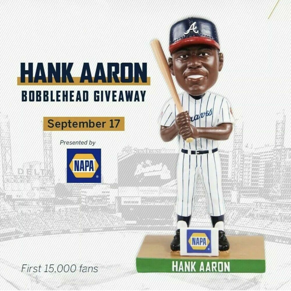 Hank Aaron Bobblehead Presale Atl Atlanta Braves Phillies Sga Mlb 19 Bobble Atlantabraves Suntrust Park Braves Kansas City Chiefs Stadium