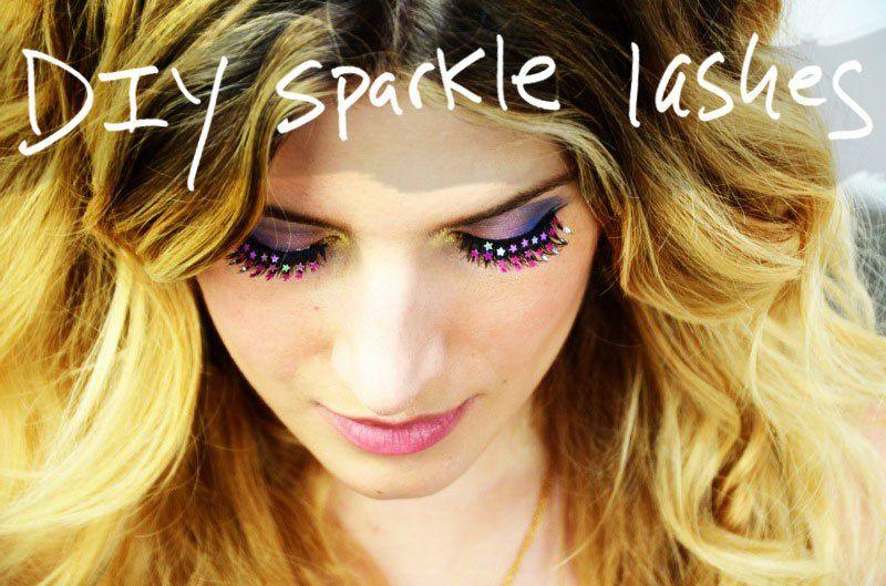 diy sparkle lashes