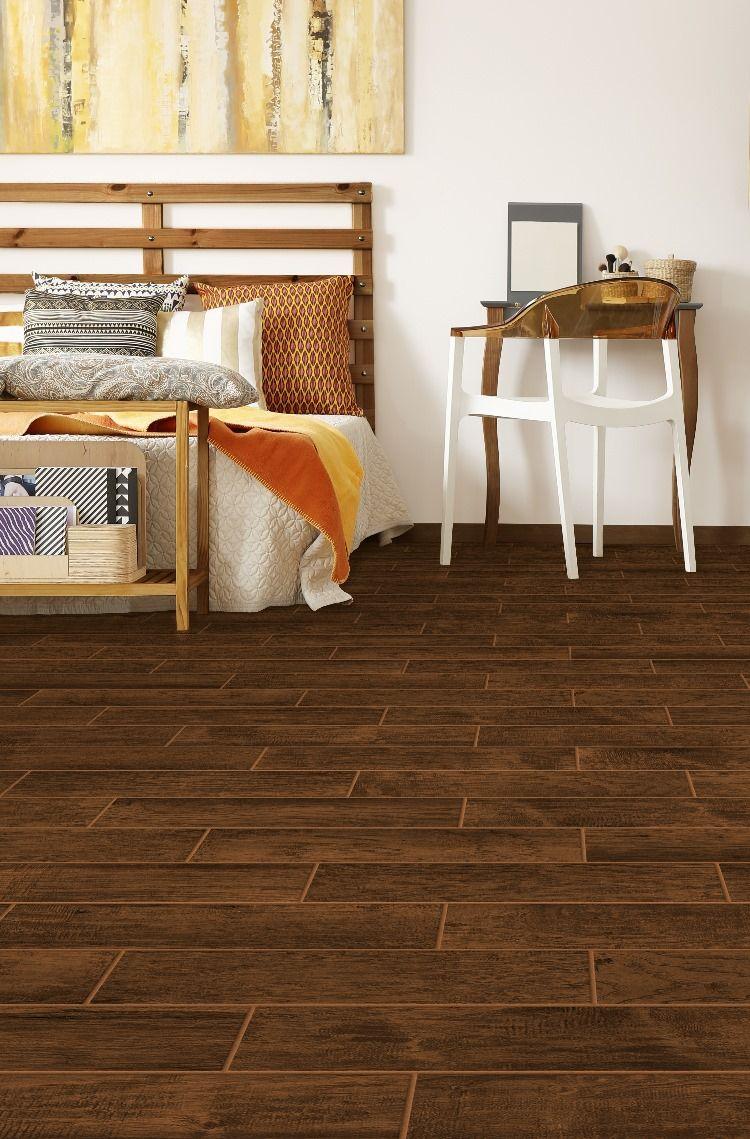Farmhouse Chestnut Bedroom Wood Look Tile Flooring Inspiration Wood Tile